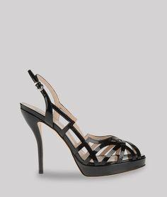 03a99b4e85c8 Giorgio Armani Patent Leather Platform Sandals  Accessories  Shoes Armani  Women