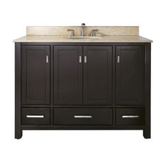 Avanity Modero 48 in. Vanity with Galala Beige Marble Top and Sink in Espresso finish at Menards