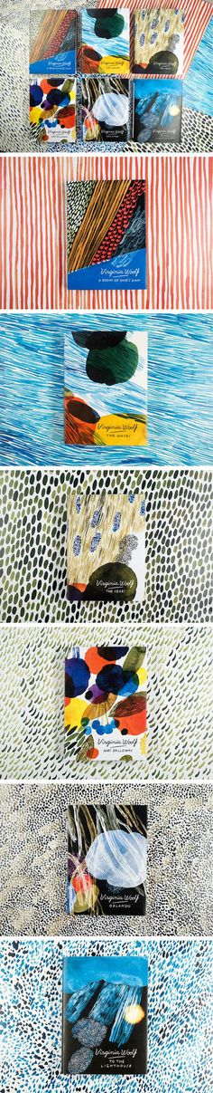 Virginia Woolf covers by illustrator Aino-Maija Metsola