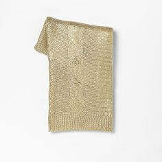gold cable knit throw for your home