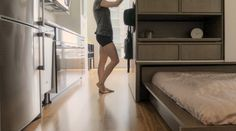 Robotic Moving Furniture Turns Compact Living Spaces Into Multiple Rooms Transforming Furniture, Moving Furniture, Smart Furniture, Micro Apartment, Tiny Apartments, Compact Furniture, Micro House, Tiny House, Compact Living