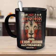 Jesus The Lion of Judah 11oz Black Mug