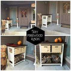 diy firewood and kindling storage, diy, outdoor furniture, rustic furniture, storage ideas, woodworking projects