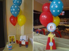 Curious George party centerpeices.