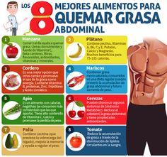 8 Super alimentos para quemar la grasa abdominal #tips