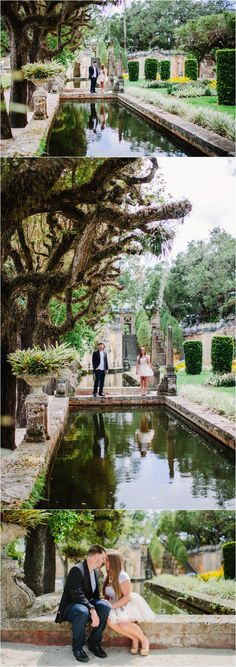 Old World Vizcaya Engagement session captured by The Big Day Photography (Museum/ garden venue in Miami, FL)