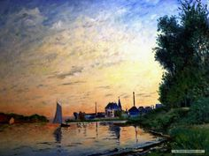 """""""Argenteuil, Late Afternoon""""  --  1872  --  Claude Monet  --  French  --  Oil on canvas"""