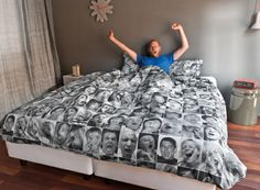 Funny bedding in the bedroom offers original deco ideas