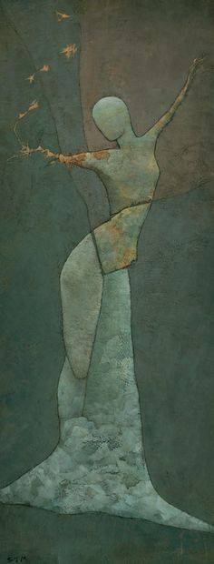 """sacred connection between body and nature...  Saatchi Online Artist: Stephen Mitchell; Acrylic, 2009, Painting """"Lyra's Spell"""""""