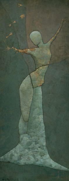 "Saatchi Online Artist: Stephen Mitchell; Acrylic, 2009, Painting ""Lyra's Spell"""