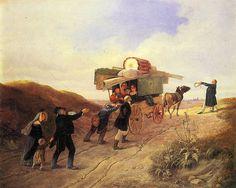 Carl Spitzweg - Reisende Komödianten 1838