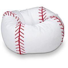 "96"" Round Vinyl Bean Bag, Baseball $27.88 Walmart.com"