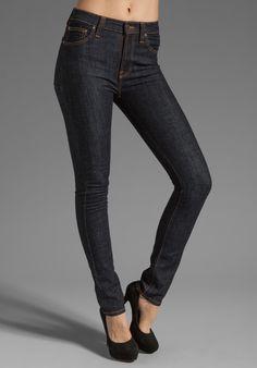NUDIE JEANS High Kai in Organic Twill Navy - Nudie Jeans