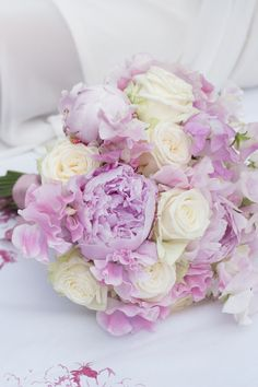 Bouquet of peonies, roses and sweetpeas by Foxgloves and Roses.
