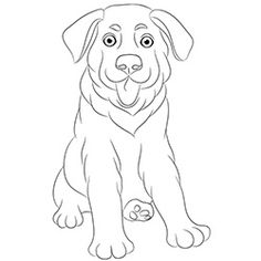 free printable dogs and puppies coloring pages for kids german shepherd - German Shepherd Coloring Pages Free 3