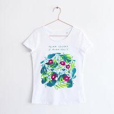 RAISA X MADI #2/ SCOOP NECK TSHIRT (marimea XL) Organic Cotton T Shirts, Clothing Items, All Things, Scoop Neck, T Shirts For Women, Prints, Shopping, Clothes, Collection