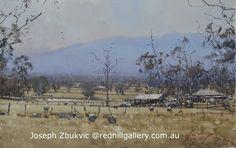 "Joseph Zbukvic, Red Hill Gallery, Brisbane. Watercolour painting ""High Summer"" 47x30cm. Art Gallery, Joseph Zbukvic, Joseph, Landscape Paintings, Art, Pictures, Watercolour Inspiration, Beautiful Art, Water Painting"