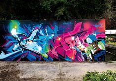 Graffiti Pens, Graffiti Writing, Best Graffiti, Graffiti Artwork, Graffiti Alphabet, Graffiti Lettering, Mural Art, Murals Street Art, 3d Street Art