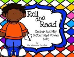 Roll and Read R-controlled Vowels (AR) ~ This activity is perfect for centers AND progress monitoring. Three game boards are included. This is the perfect activity for practicing AR r-controlled vowels and nonsense words. Grades 1-3 ~ The Vivacious Teacher