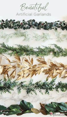 Shop gorgeous artificial fall and holiday garlands for your tablescape designs