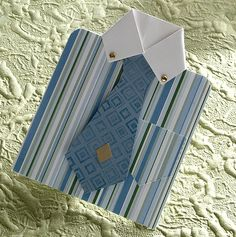 Shirt card instructions and pattern.