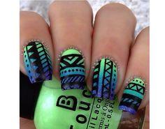 Azteckie wzorki na paznokcie - odświeżamy trend na lato - Strona 2