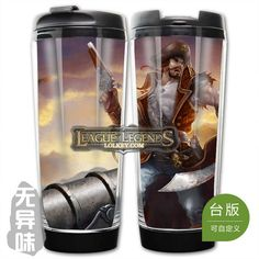 League of Legends LOL Classic Skin Gangplank Plastic Coffee Cup