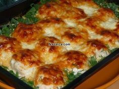 CHICKEN BALLS WITH OVEN CREAM SAUCE- If you want to make chicken, chicken balls with creamy sauce and chicken balls illustrated chicken recipe. We are again with a foreign Chicken Recipe from the chicken dishes. From chicken breast meat… Chicken Balls, Oven Chicken, Russian Recipes, Turkish Recipes, Ethnic Recipes, Italian Chicken Dishes, Good Food, Yummy Food, Great Recipes