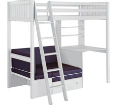 Buy HOME Classic High Sleeper Bed & Blue Sofa Bed - White Wash at Argos.co.uk, visit Argos.co.uk to shop online for Children's beds, Children's furniture, Home and garden