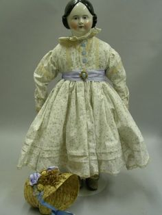 Large Early China Shoulder Head Doll | Sale Number 2328, Lot Number 551 | Skinner Auctioneers