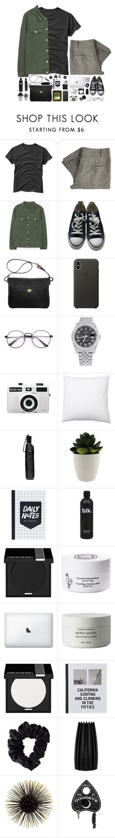 """""""Can you feel their haunting presence?"""" by spottdrossel ❤ liked on Polyvore featuring Gap, Great Plains, MANGO, Converse, Mimi Berry, Apple, Rolex, Bobbi Brown Cosmetics, Holga and Coach"""