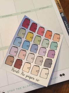 25 Planner Multicolor Stickers- Happy Planner, Erin Condren, Kikki K, Recollections, Plum Paper