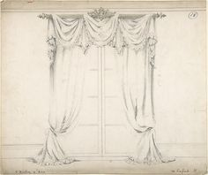 Design for Curtains and Rod. Charles Hindley and Sons, British, London