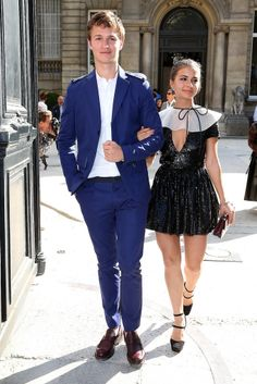 #TFIOS star Ansel Elgort made a rare public appearance with his girlfriend, Violetta Komyshan.