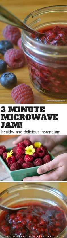 3-Minute No Sugar Microwave Jam ~ this amazingly fresh and vibrant jam is made in just minutes in the microwave, without any sugar