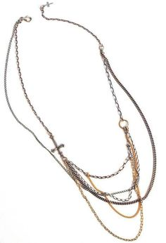 Bing Bang by Anna Sheffield - Victorian Cross Web Chain Necklace ($100-200) - Svpply. On the wish list but is sold out