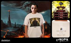 http://www.facebook.com/UtopiaLux Unusual tshirt design. #frodo #tshirt #baggins #sauron #blow #design #lookbook #sick #funny #utopia #marihuana #joint #eye #cracow #skeleton #himan #lord