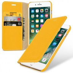 TETDED Premium Leather Case for Apple iPhone 7 Plus -- Mellac II (LC: Yellow)
