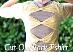 Cut-Out Back T-shirt Upcycled