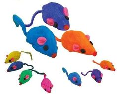 Rainbow Rattling Mice  Bag of 20  Cat Fun Toy by Cat Mat -- You can find out more details at the link of the image.(This is an Amazon affiliate link)