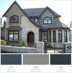 Greatest Cottage Exterior Colors Ideas, The colors you select are likely to be based on what type of painting project you need to begin. You know what colors you want and that's that. Cottage Exterior Colors, Exterior Color Combinations, House Color Schemes, Happy House, Buying A New Home, Finding A House, Home Theater, Cozy House, New Homes