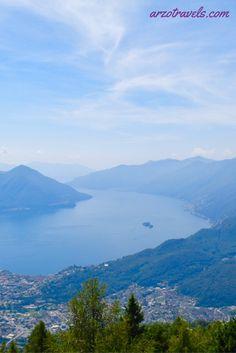 Lago Maggiore. Enjoy this Great View from Cardada in Locarno, Ticino, Switzerland.