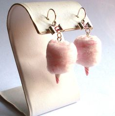 Carnival Cotton Candy Earrings  You Choose the by FatallyFeminine, $26.00