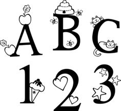 Baby Boo Decor - ABC 123, $49.50 (http://www.babyboodecor.com/abc-123/) #wallart #parenting #babydecor