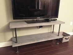 Rustic industrial TV stand | rustic industrial coffee table | industrial chic…