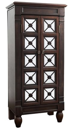 Donna Mirrored Jewelry Armoire.