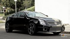 """Cadillac CTS-V with staggered 20"""" c881 in matte black"""