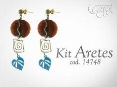 Aprende a armar tus propios accesorios de #bisutería!!! #DIY Kit 14748 Kit aretes ig hojas