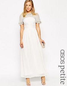 ASOS PETITE Premium Princess Cluster Maxi Dress