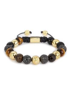 http://www.northskull.com/mixed-semi-precious-stones-and-black-swarovski-crystal-bracelet.html